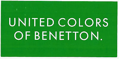 Sts310 - Sticker Adesivo United Colors Of Benetton