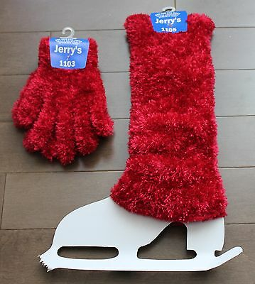 New One Size Fits All Jerry's Red Eyelash Wool Gloves Legwarmers