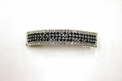 NEW DANCE Barette Hair Clip Rhinestones Black & Clear