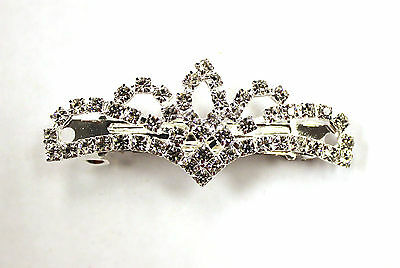 NEW DANCE Hair Clip Barette Rhinestones Clear