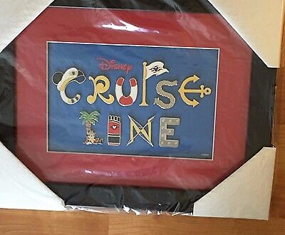 DISNEY CRUISE LINE LETTER FRAME PIN 10 Pins Set Mickey