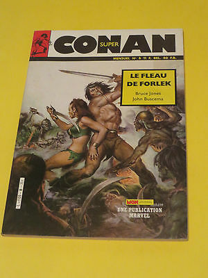 1986 Conan Super #8 From France In French 84 Pages Le Fleau De Forlek