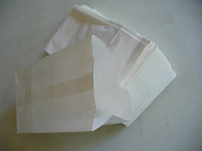 QTY 50 #4 Paper White Kraft Bakery Grocery Merchandise Retail Shopping Bags NEW