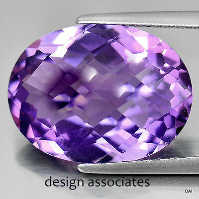 African Amethyst Oval Cut 8X6 Mm All Natural Checkerboard Top