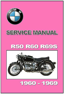 BMW WORKSHOP Manual R50 US R60 US R69 US R69S US 1967 1968 1969 ...