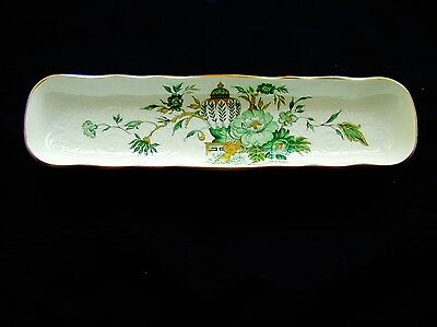 "Crown Staffordshire Kowloon Mint Tray 8.5"" Bone China Made England"