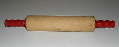 Nice Vintage Red Handle Rolling Pin