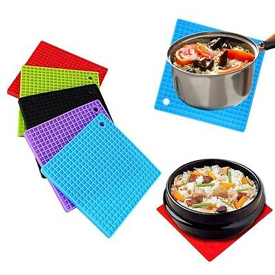 Silicone Pot Holder Cup Coaster Mat Pan Non-slip Heat resistant Pad Placemat