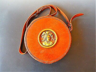 WWI B.A.T.&S Brown Leather Carrying Case with Bronze Medallion