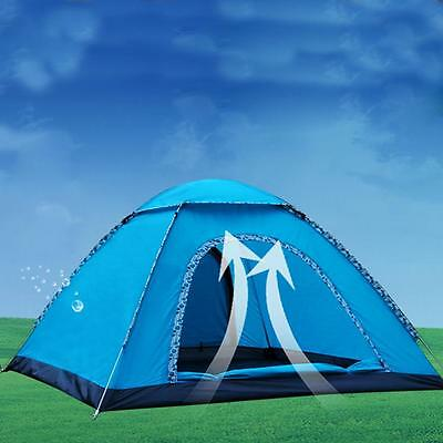 Waterproof Camping Tent 3-4 Person Automatic Pop Up Quick Shelter Outdoor Hiking