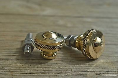 Pair of superb quality antique brass furniture knobs rope edge handle knob Z4