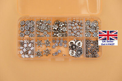 Assorted Flower Beads in Handy Box for Jewellery-Making - FREE POSTAGE