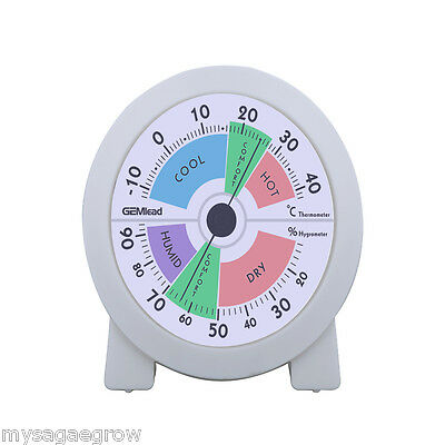 "4"" Indoor Hygrometer Thermometer Temperature Humidity Meter Monitor Air Sensor"