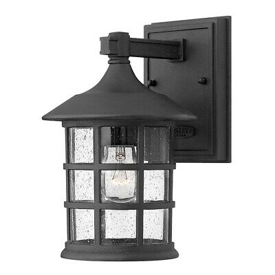Hinkley Lighting Freeport 1 Light Outdoor Small Wall Mount, Black - 1800BK