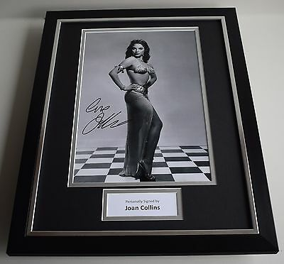 Joan Collins SIGNED FRAMED Photo Autograph 16x12 display Actress AFTAL & COA