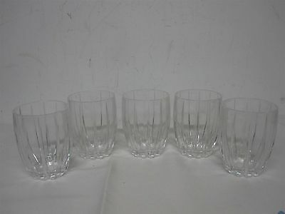 """5 Waterford Marquis """"omega"""" 4 3/8"""" Double Old Fashioned Glasses"""