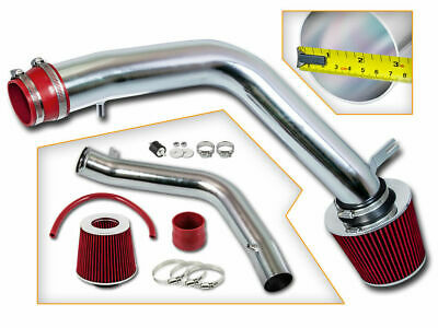 """3"""" RED Cold Air Intake Induction Kit + Filter For 04-08 TL Base/Type-S 3.2L 3.5L"""