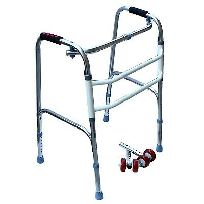 Folding Walker with Removable Wheels Heavy Duty Professional Up to 300lbs