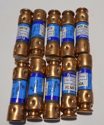 Lot of 10  FLNR30 / FLNR 30A L6C04F CLASS RK5 FUSES