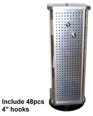 PEG BOARD COUNTER DISPLAY 4 INCH PEGS merchandise rack new SPINNING pegboard new
