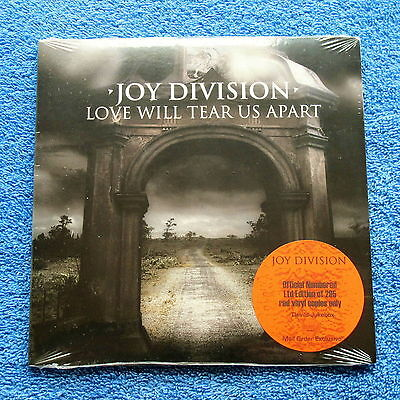 "Joy Division Love will tear us appart Red Vinyl #47 of 295 Sealed 7"" single"