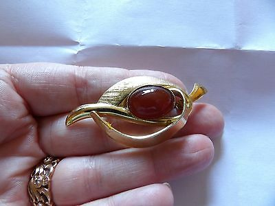 Vintage Gold Plated Stylised Duck Head Figural Brooch Gold Plated Textured