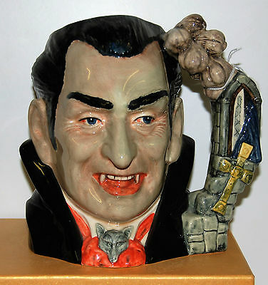 Large Royal Doulton Character Jug Count Dracula D7053  ***with Certificate**
