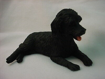 LABRADOODLE Dog Figurine HAND PAINTED Resin Statue BLACK LABRA DOODLE Puppy NEW