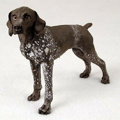 GERMAN SHORTHAIR POINTER dog HANDPAINTED FIGURINE Resin Statue COLLECTIBLE puppy