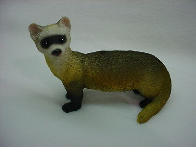 FERRET pet HAND PAINTED FIGURINE Resin Statue COLLECTIBLE ANIMAL New