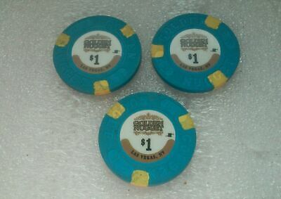 GOLDEN NUGGET $1 LAS VEGAS HOTEL & CASINO POKER CHIP OBSOLETE lot of 3 (bin 22)