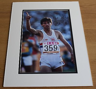 Sebastian Coe SIGNED autograph 16x12 LARGE photo display Olympics AFTAL COA