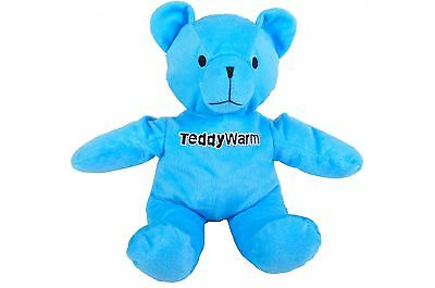 Cuddle-Teddy Warm Blue Stuffed animal Warming Hot water bottle Grain cushion