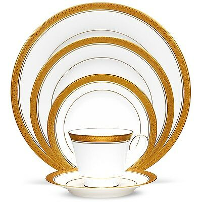 Noritake China Crestwood Gold 40Pc China Set, Service for 8