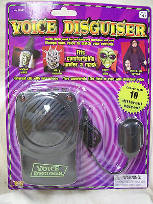 Voice Changer Disguiser Microphone Special FX 10 Sounds Alien Halloween Costume