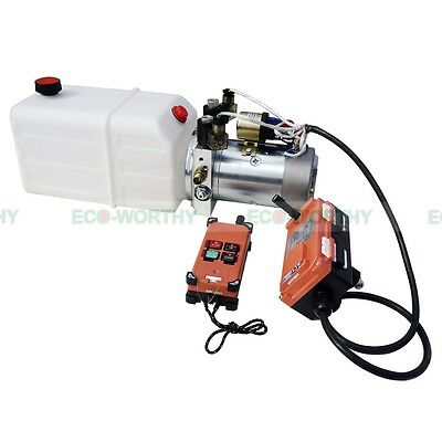 DC12V Double Acting Hydraulic Power Pump Unint W/ Wireless Remote Control