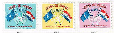 Paraguay UN Flags stamps 1960 MLH