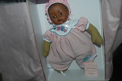 Cute As A Button  Huggums African American   12'' Baby Doll  Madame Alexander