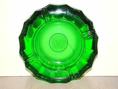 Fostoria Coin Emerald Green Ashtray