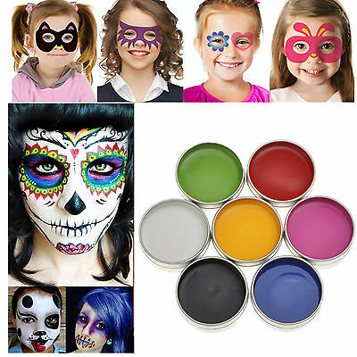 IMAGIC Professional Face Body Painting Halloween Dress Party Make up 7 Farben