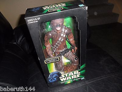 """1999 STAR WARS 12 Power of the Force Chewbacca Hasbro 13"""" + Doll ACTION FIGURE"""