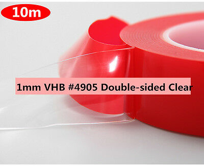 10 meters, Strong Adhesive For 7302 Double Sided VHB Acrylic Gel Tape Clear