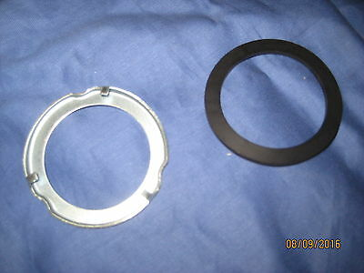 Classic MGB Petrol Tank Sender Unit Retaining Ring Clip & Rubber Seal. MINI ob34