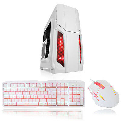 CiT Storm Combo White Midi Tower Gaming Case - USB 3.0
