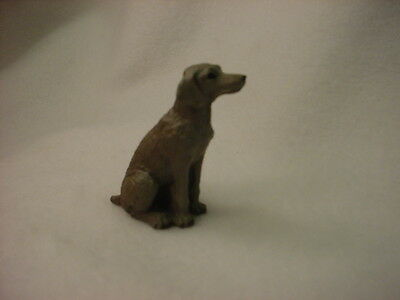 WEIMARANER puppy TiNY DOG Figurine HAND PAINTED MINIATURE Statue NEW COLLECTIBLE