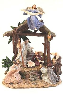 NEW Traditional Nativity Scene Fantastic Detailing Festive Christmas Ornament