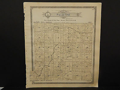 Illinois Woodford County Map, 1912 Township of Palestine Q3#42