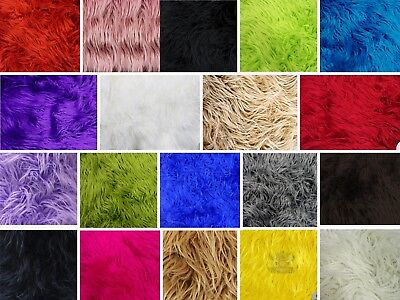 Faux Fur Long Pile MONGOLIAN Fabric / Sold by the yard