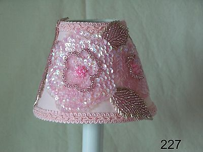 Glamorous Pink Lamp Shade, Chandelier Shades or Night Light for Girl's Bedroom