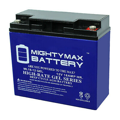 Mighty Max 12V 18AH GEL Battery for DR Field and Brush Mower